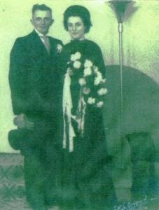 Huwelijk Jan Hopman en Anneke Kroes 1945